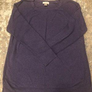 Size XL LOFT Outlet Eggplant purple sweater